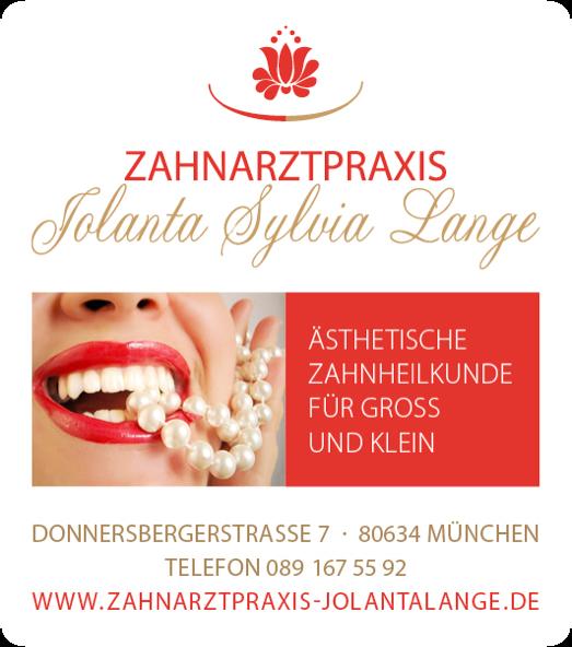 Kontaktdaten der Zahnarztpraxis Jolanta Sylvia Lange München